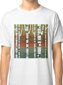 Birches with Blue and Orange Classic T-Shirt