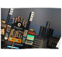 Comerica Park / Summer Home Baseball Tigers / Detroit, Michigan Poster