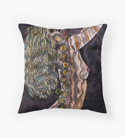Visual Diary 2 - Night Goddess Throw Pillow