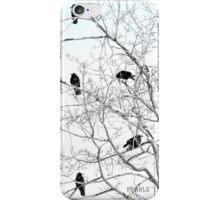 Five Crows in a Tree iPhone Case/Skin