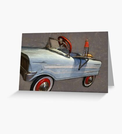 Drive In Pedal Car Greeting Card