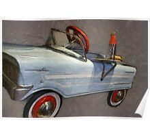 Drive In Pedal Car Poster