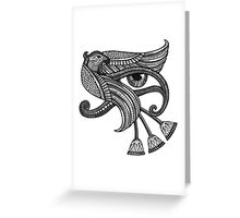 Eye of Horus (Tattoo Style Print) Greeting Card
