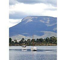 Mt Wellington Boats Photographic Print