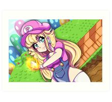 Super Princess Peach | Print Art Print