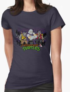 TMNT - Foot Soldiers 02 with Shredder, Bebop & Rocksteady - Teenage Mutant Ninja Turtles Womens Fitted T-Shirt