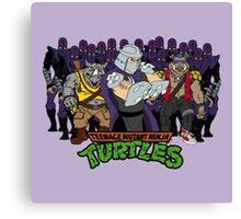 TMNT - Foot Soldiers 02 with Shredder, Bebop & Rocksteady - Teenage Mutant Ninja Turtles Canvas Print