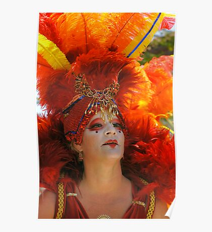 Summer Solstice Performer, Santa Barbara Poster