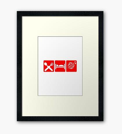EAT SLEEP KNIT SIGN Framed Print