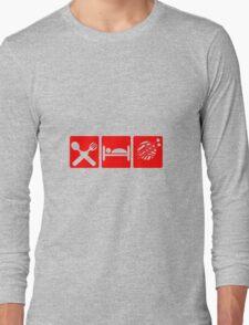 EAT SLEEP KNIT SIGN Long Sleeve T-Shirt