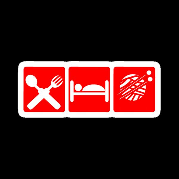 EAT SLEEP KNIT SIGN by SofiaYoushi