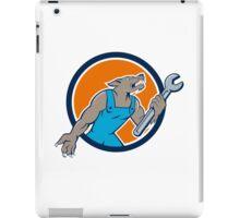 Wolf Mechanic Spanner Circle Cartoon iPad Case/Skin