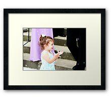 Wedding Bubbles Framed Print