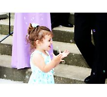 Wedding Bubbles Photographic Print
