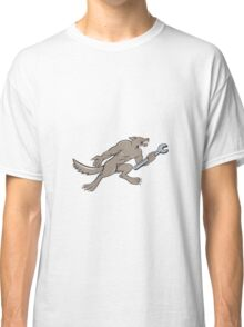 Wolf Mechanic Spanner Isolated Cartoon Classic T-Shirt