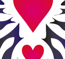 Tribal Heart - Design by Valentina Miletic Sticker