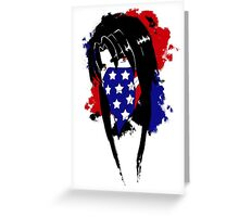 Amy Flag Design Greeting Card