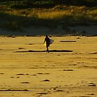 The Lone Surfer by UncaDeej