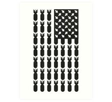 Black Bombing USA FLAG  Art Print