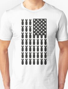 Black Bombing USA FLAG  Unisex T-Shirt