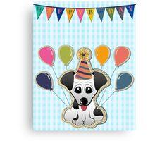 Cute Puppy Birthday Card Canvas Print