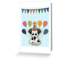 Cute Puppy Birthday Card Greeting Card