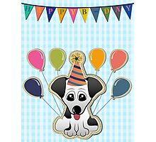 Cute Puppy Birthday Card Photographic Print