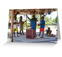 Mystery Island Beach Boys Greeting Card