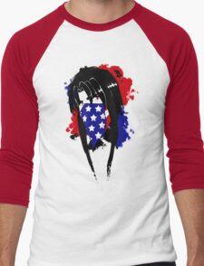Amy Flag Design Men's Baseball ¾ T-Shirt