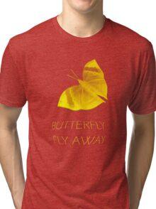 Butterfly Fly Away Tri-blend T-Shirt