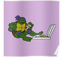 TMNT - Donatello with Pizza Poster