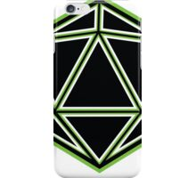 Black and Green d20 iPhone Case/Skin