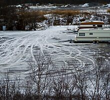 Caravan parking in Abisko by Tim Raupach