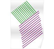 Green+Purple Line Poster