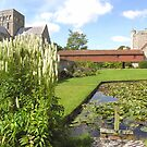 The Master's Garden, Hospital of St Cross, Winchester, southern England, especially good as a card by Philip Mitchell
