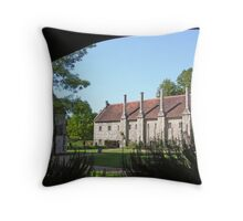 The Brothers' apartments, Hospital of St Cross, Winchester, southern England Throw Pillow