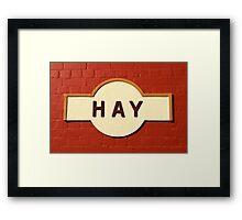 Hay Railway Station Framed Print