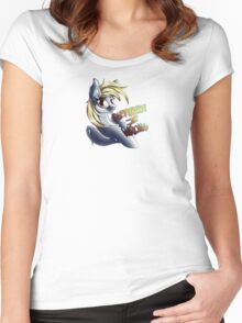 Aggressively Motivational Derpy Hooves Women's Fitted Scoop T-Shirt