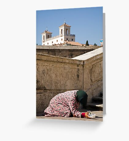 Beggar in Rome, Italy Greeting Card