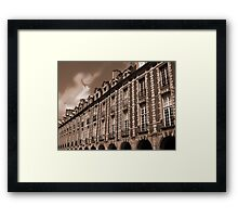 Paris - Facades at the Vosges Square Framed Print