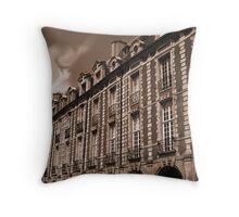 Paris - Facades at the Vosges Square Throw Pillow