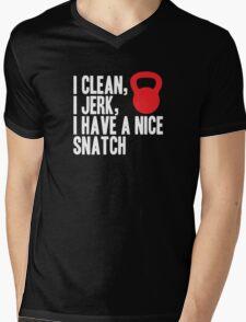I Clean, I Jerk, I Have a Nice  Snatch Mens V-Neck T-Shirt