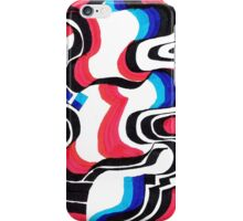 red blue structure iPhone Case/Skin