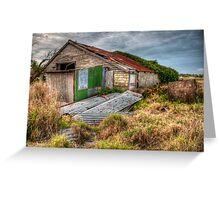 The Study of an old farm shed 2 - Experienced in HDR Greeting Card