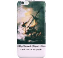 """Old Master Rembrandt ... """"Lord we perish"""" iPhone Case/Skin"""