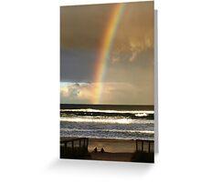 Watchin the Rainbow Greeting Card