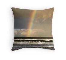 Watchin the Rainbow Throw Pillow