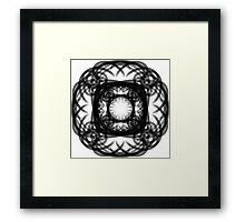 Somber Spiral Framed Print