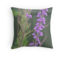 purple flowers close up  Throw Pillow