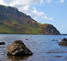 Crag Fell and Anglers Crag, Ennerdale water, English Lake District. by Phil Mitchell